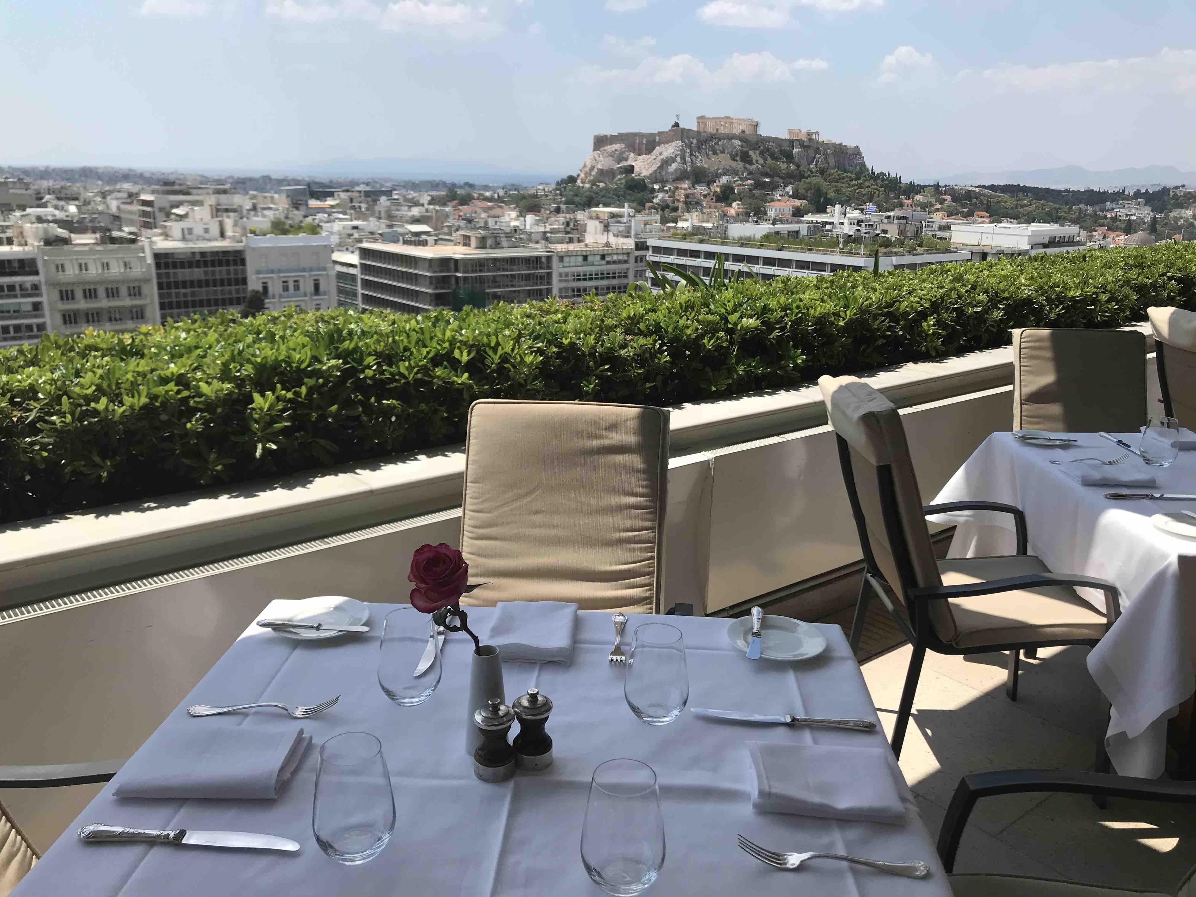 GB rooftop garden Athènes